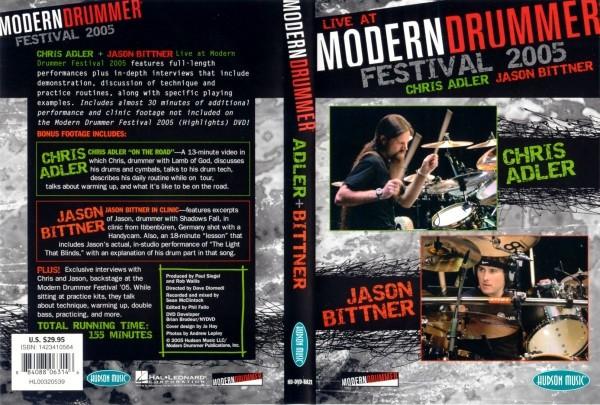 """DVD Chris Adler & Jason Bittner """"Live at Modern Drummer Festival 2005"""" (DVD5)"""