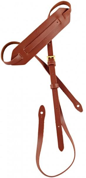 """ORTEGA Mandolinstrap Leather Length 1700 mm (66,92""""), Width 15 mm (0,59""""), Width Shoulderpart 55 mm (2,17"""") - Brown (OSM-BR)"""