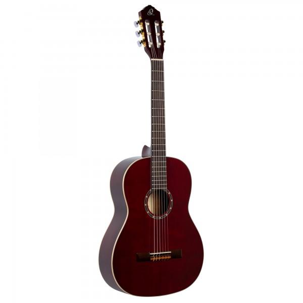 ORTEGA Family Series Pro Classical Guitar 4/4 Slim Neck - wine red + bag (R131SN-WR)