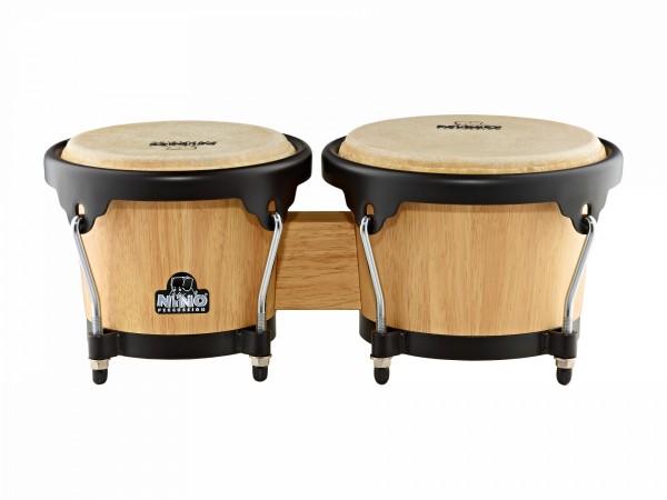 NINO Percussion Wood Bongo - Natural/Black (NINO3NT-BK)