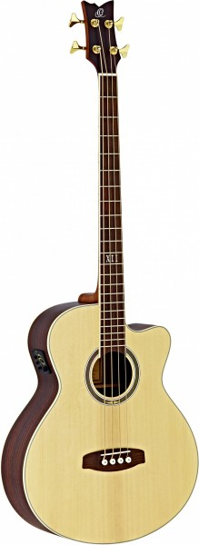 ORTEGA Acoustic Bass 4-String Deep Series 5 - Solid Spruce Top / Rosewood (D558-4)