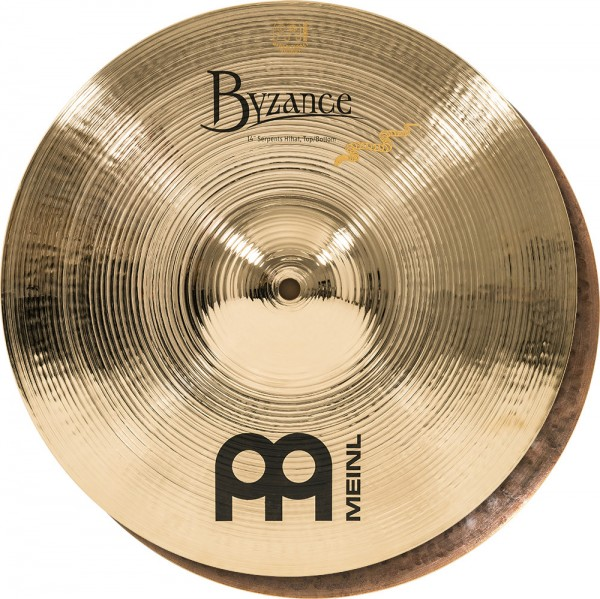 "MEINL Cymbals Byzance Brilliant Serpents Hihat - 14"" (B14SH-B)"
