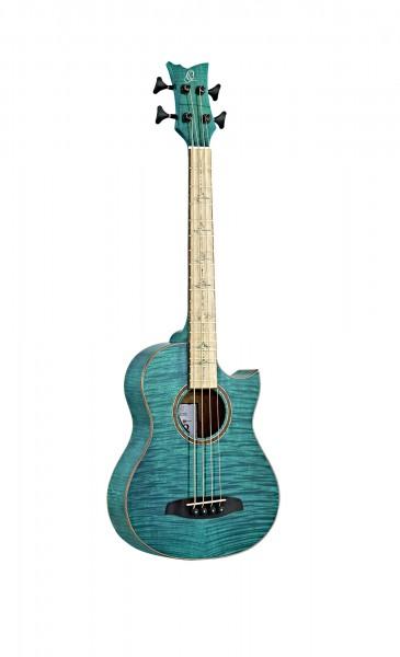 ORTEGA Limited 25th Anniversary Acoustic Bass 4 String - Magic blue gloss finish + 25th Anniversary Gig Bag (WALKER-25TH)