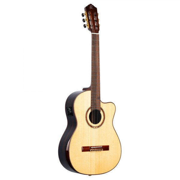 ORTEGA The Privat Room Classical Guitar 4/4 built in Armrest + Electronic - Natural + Bag (STRIPEDSU.C/E)