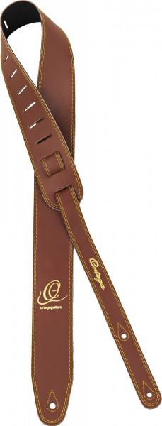 "ORTEGA Guitarstrap Smooth Leather Length 1420 mm (55,9""), Width 85mm (3,35"") - Brown (OSL2-85BR)"
