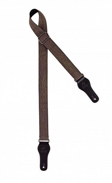"""ORTEGA ukulele strap - length 1390mm / 54,33"""" (Max) / width 37mm - worn out brown (OCS-130U)"""