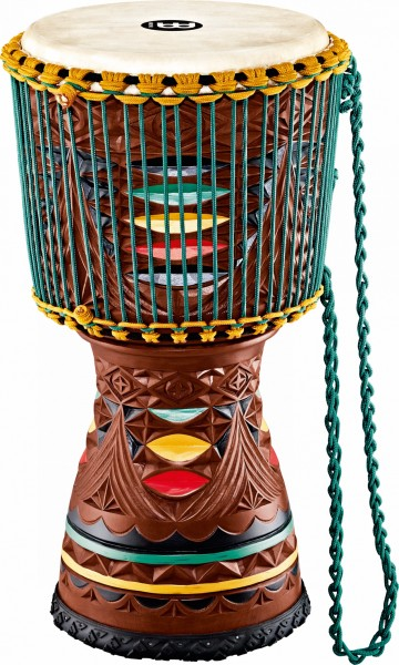 """MEINL Percussion Artisan Edition Tongo Carved Djembe - 12"""" (AE-DJTC2-L)"""