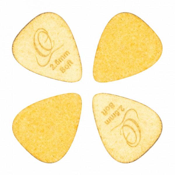 ORTEGA Flex Tech Picks Soft 2,5mm - Goldenrod pack of 4 (OGP-FTS)