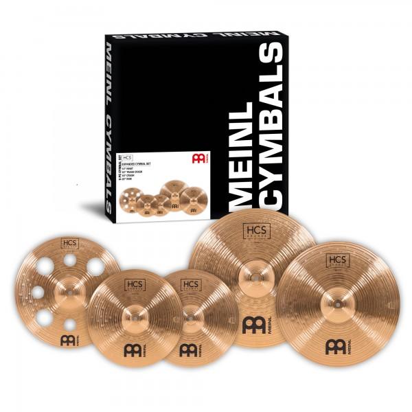 """MEINL Cymbals HCS Bronze DeLuxe Set - 14"""" HiHat/16"""" Trash Crash/18"""" Crash/20"""" Ride (HCSB14161820)"""