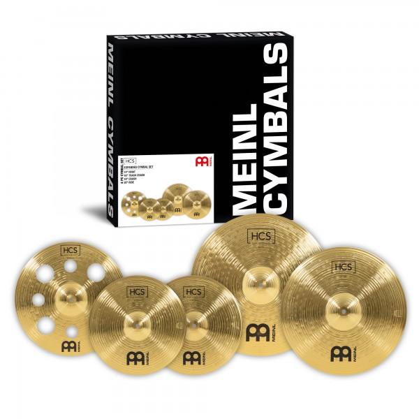 "MEINL Cymbals HCS Expanded Cymbal Set - 14"" Hihat/16"" Trash Crash/18"" Crash/20"" Ride (HCS14161820)"
