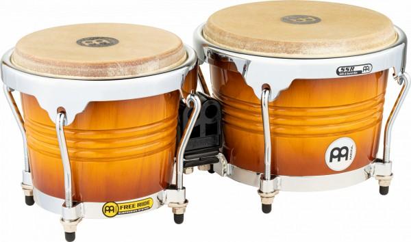 "MEINL Percussion Free Ride Wood Bongo - Gold Amber Sunburst 6 3/4"" MACHO & 8"" HEMBRA (FWB200GAB)"