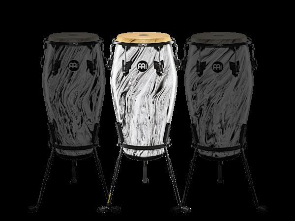 "MEINL Percussion Marathon Designer Series - 11 3/4"" Conga, White Marble (MCC1134WHM)"