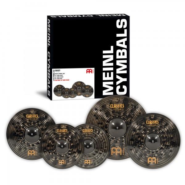"MEINL Cymbals Classics Custom Dark Cymbal Set PLUS FREE 18"" Dark Crash (CCD460+18)"