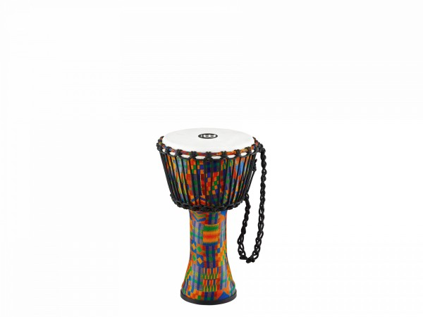 MEINL Percussion Travel Series African Djembe - Kenyan Quilt, Small - Synthetic Head (PADJ2-S-F)