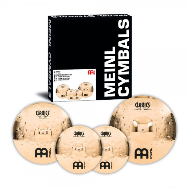 "MEINL Cymbals Classics Custom Extreme Metal Cymbal Set - 14"" Hihat, 18"" Crash, 20"" Ride (CC-EM480)"