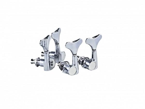 ORTEGA Electric/acoustic bass tuning machines, standard, 4-string Die Cast, 2+2 - Chrome (OTMEB22-CR)