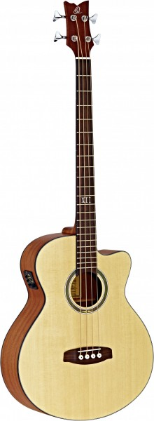 ORTEGA Acoustic Bass 4-String Deep Series 5 - Solid Spruce Top / Sapele (D538-4)