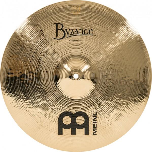"MEINL Cymbals Byzance Brilliant Medium Crash - 16"" (B16MC-B)"