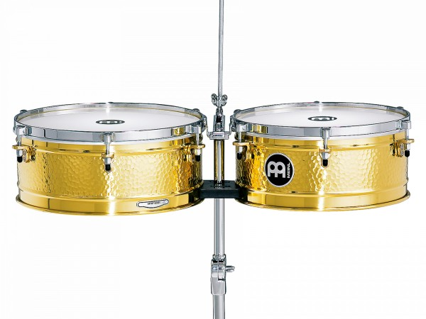 """MEINL Percussion Artist Series Timbales 14"""" & 15"""" - Luis Conte (LC1BRASS)"""