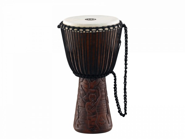 """MEINL Percussion Professional African Style Djembe - 12"""" Village Carving (PROADJ2-L)"""