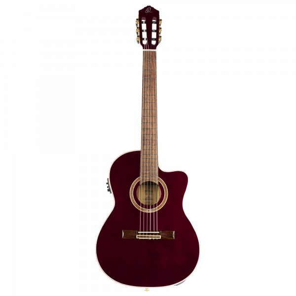 ORTEGA Performer Series Nylon String Guitar - Stained Red (RCE138-T4STR)