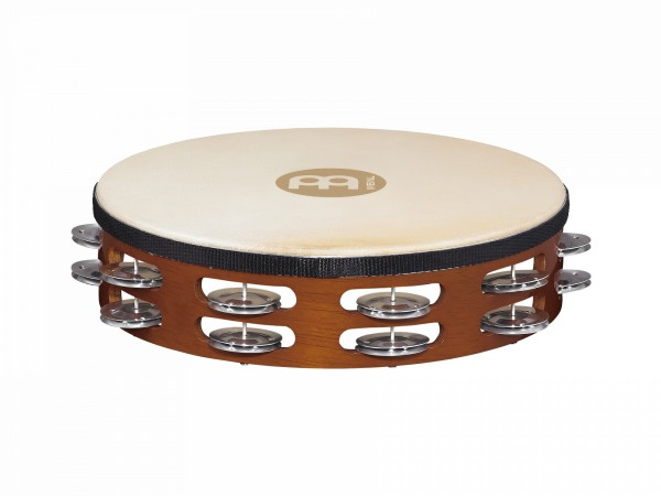 """MEINL Percussion Headed Tambourine - 10"""", 2 rows (TAH2A-AB)"""