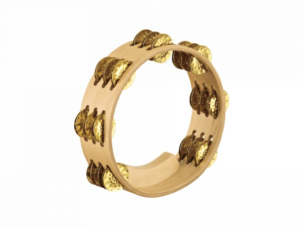 MEINL Percussion Artisan Edition Compact Tambourine - Hammered brass (AE-CMTA3B)