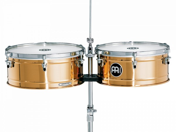 """MEINL Percussion Professional Series Timbales 14"""" & 15"""" - German B8 cymbal bronze (BT1415)"""