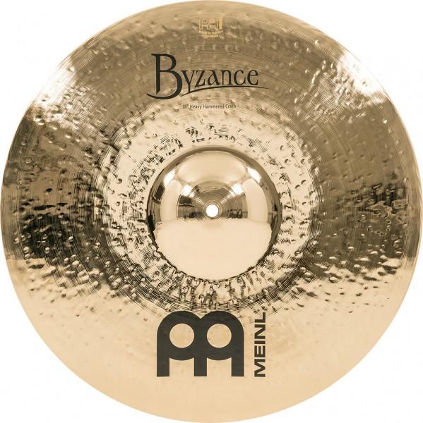 """MEINL Cymbals Byzance Brilliant Heavy Hammered Crash - 18"""" (B18HHC-B)"""