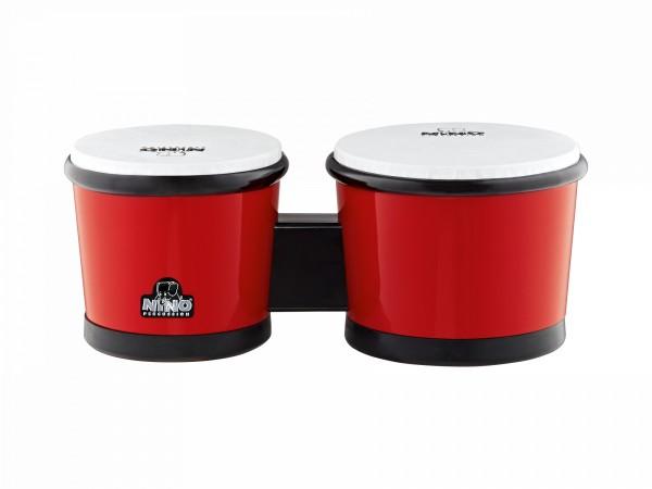 """NINO Percussion Bongo ABS Plastic - 16,51cm (6 1/2"""") & 19,05cm (7 1/2"""") - Red (NINO19R)"""