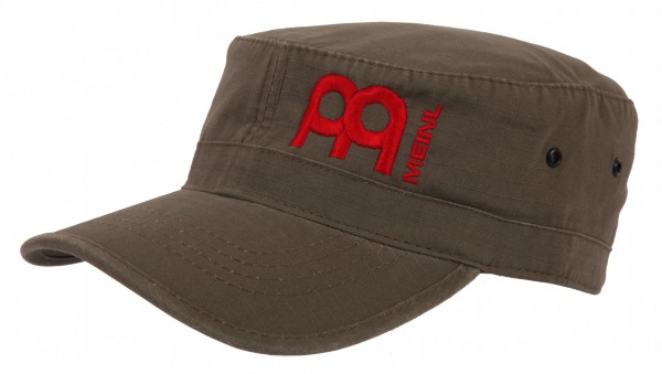 Meinl army cap in olive with red embroidered logo (M21)