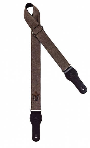 """ORTEGA cotton guitar strap - length 1580mm / 62"""" (Max) / width 50mm - worn out brown (OCS-130)"""