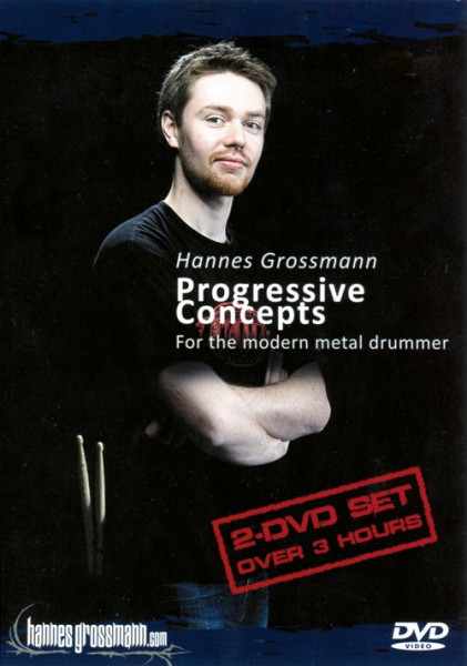 "DVD Hannes Grossmann ""Progressive Concepts - For The Modern Metal Drummer"" (DVD21)"