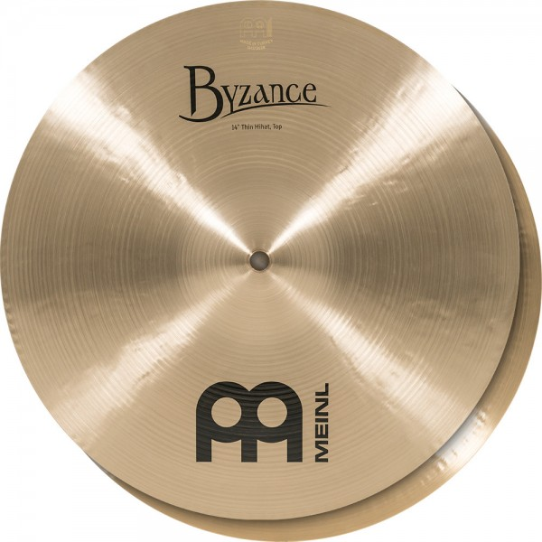 """MEINL Cymbals Byzance Traditional Thin Hihat - 14"""" (B14TH)"""