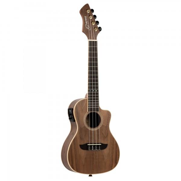 ORTEGA Horizon Series Concert Ukulele 4 String - open pore solid walnut + gigbag included (RUWN-CE)