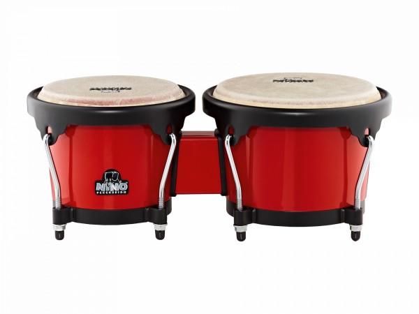 NINO Percussion Bongo ABS Plastic Plus - Red/Black (NINO17R-BK)