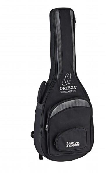 ORTEGA Ben Woods Signature Guitar Reversed Headstock Nylon 6 String + Ben Woods Gigbag (FLAMETAL-TWO)