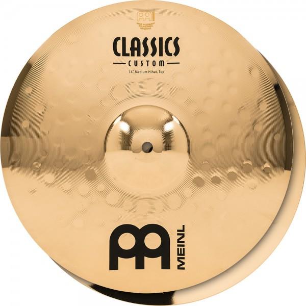 "MEINL Cymbals Classics Custom Medium Hihat - 14"" Brilliant Finish (CC14MH-B)"