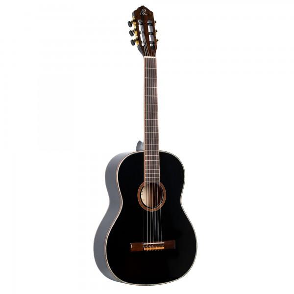 ORTEGA Family Series Classical Guitar 4/4 Slim Neck - black + bag (R221SNBK)