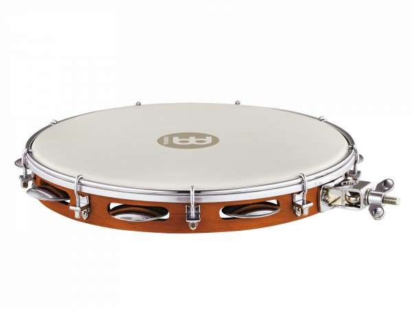 """MEINL Percussion Traditional Wood Pandeiro With Holder - 12"""" (PA12CN-M-TF-H)"""