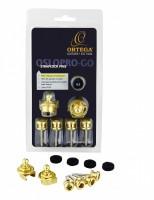 ORTEGA Strap Lock Pin Pro Version Gold - Inclusive FREE pair of screws/pins (OSLOPRO-GO)