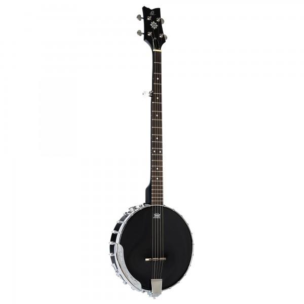ORTEGA Banjo Raven Series 5-String inclusive Gigbag Open Back Pickup System - BK - Black (OBJE250OP-SBK)