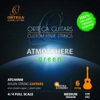 ORTEGA Atmosphere Green Series Guitar Strings Organic Nylon Treble - Medium + Extra D String (ATG44NM)