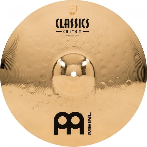 "MEINL Cymbals Classics Custom Medium Crash - 14"" Brilliant Finish (CC14MC-B)"