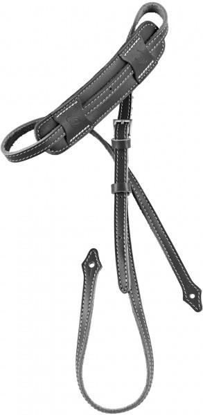 """ORTEGA Deluxe Mandolinstrap Leather Length 1700 mm (66,92""""), Width 15 mm (0,59""""), Width Shoulderpart 55 mm (2,17"""") - Black (OSMDLX-BK)"""