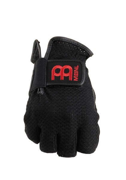 MEINL Drummer Gloves finger-less - black with red logo, size M (MDGFL-M)
