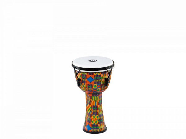 MEINL Percussion Travel Series Djembe - Kenyan Quilt, Small - Synthetic Head (PMDJ2-S-F)