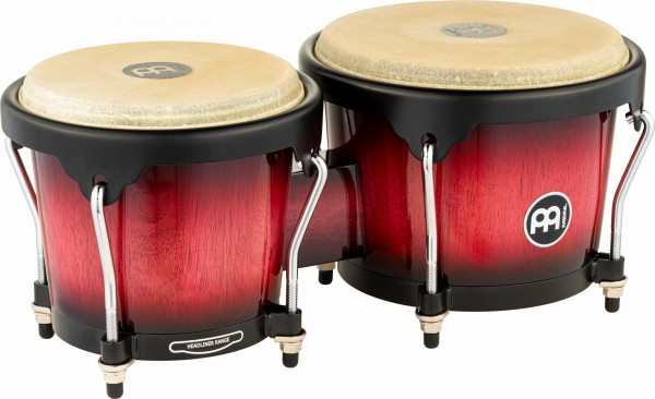 MEINL Percussion Headliner Series Wood Bongo - Wine Red Burst (HB100WRB)