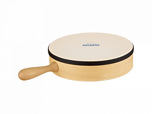 """NINO Percussion Wood Hand Drum - 10"""" with wooden handle (NINO32)"""