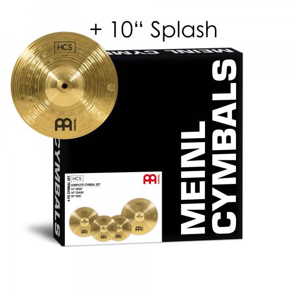 "MEINL Cymbals HCS Complete Cymbal Set-Up - 14"" Hihat/16"" Crash/20"" Ride + 10"" Splash for FREE (HCS141620+10)"